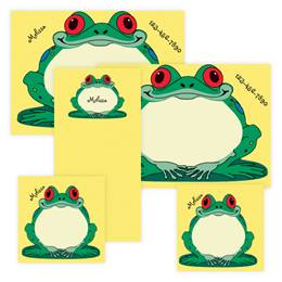 Frog Personalized Stationery And Memo Ensemble