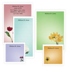 Garden Blossoms Personalized Stationery And Memo Ensemble