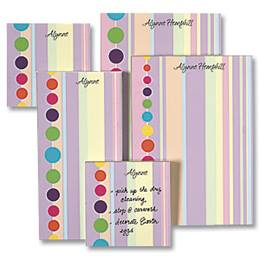 Bright And Fun Personalized Stationery And Memo Ensemble