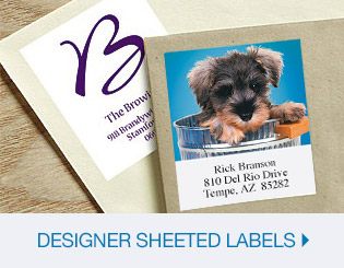 Shop Designer Sheeted Labels