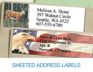 Sheeted Mailing Labels