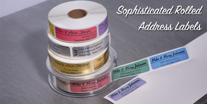 Sophisticated Rolled Address Labels