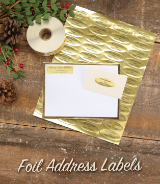 Foil Address Labels