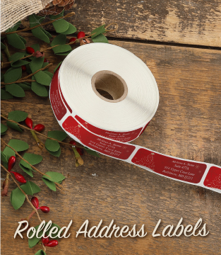 Rolled Address Labels