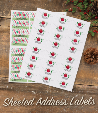 Sheeted Address Labels