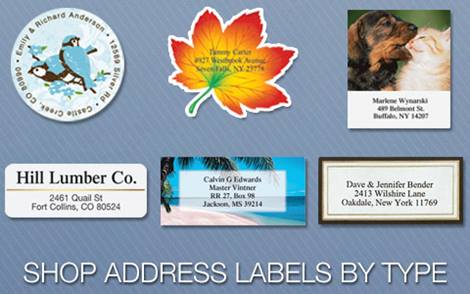 Shop Address Labels By Type